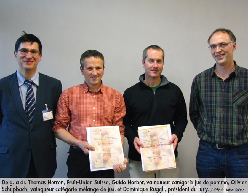 Fruit-Union Suisse récompense les meilleurs producteurs de pommes