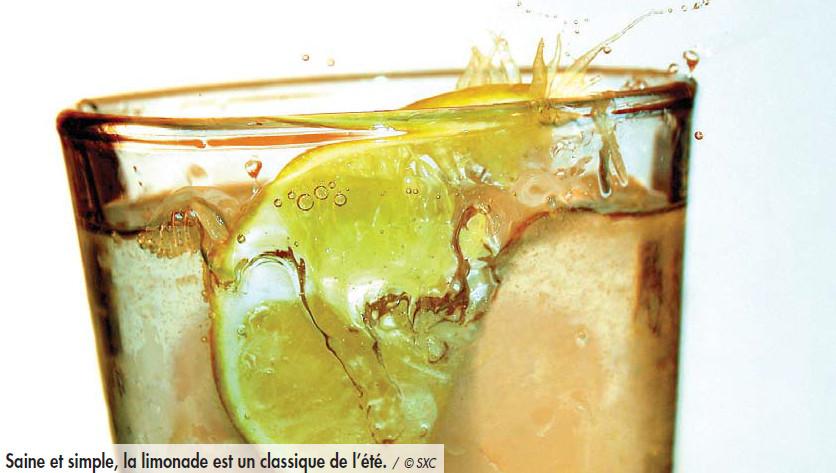 Le plaisir de boire de l'eau citronnée