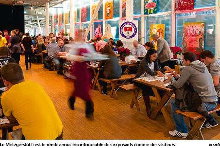 Le Metzgerstübli est le rendez-vous incontournable des exposants comme des visiteurs. © Mefa