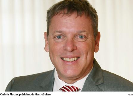 Casimir Platzer,  président de GastroSuisse