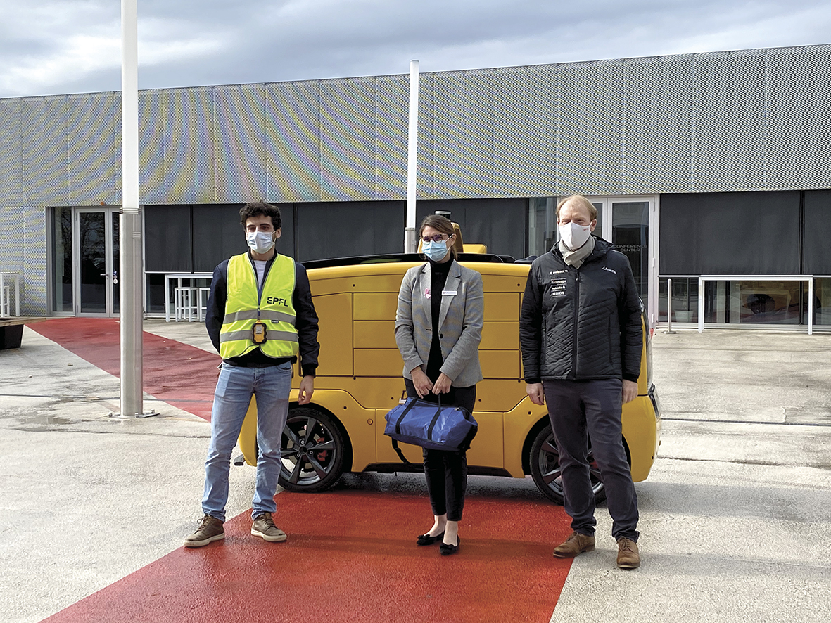 Livraison de repas L'EPFL teste le véhicule autonome